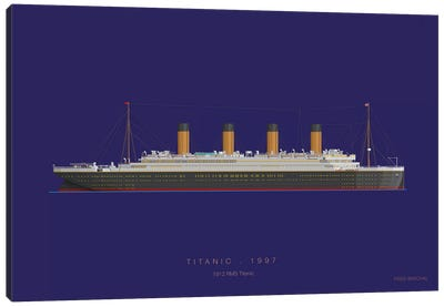On Board X Canvas Art Print