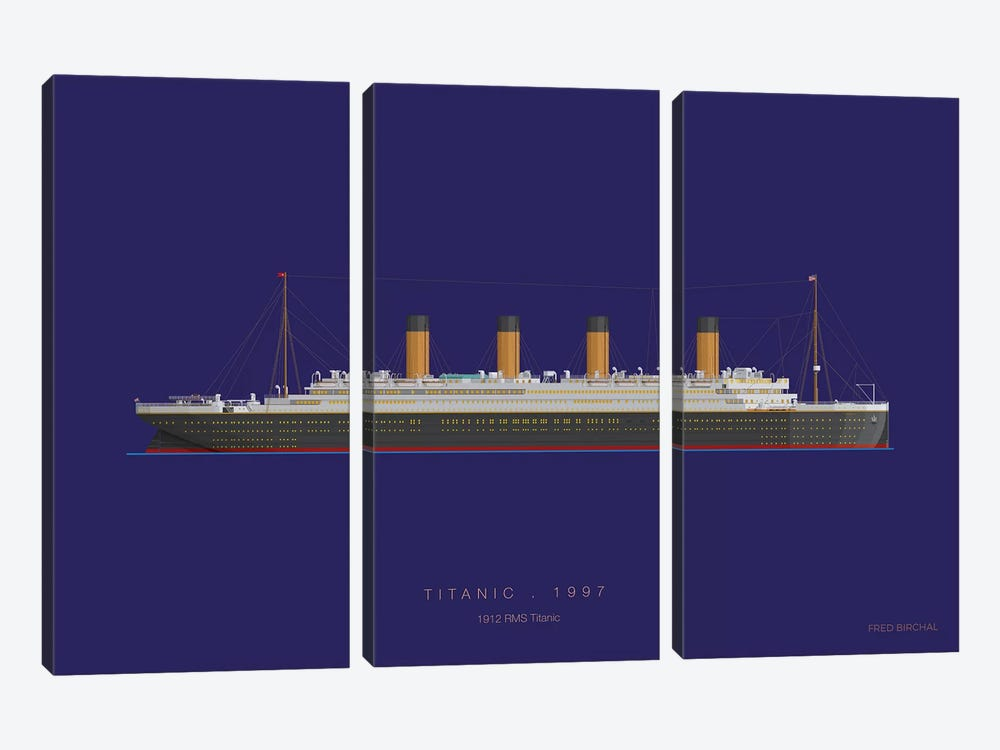 On Board X by Fred Birchal 3-piece Canvas Print