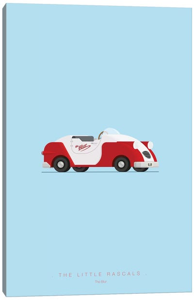 Famous Cars Series: The Little Rascals Canvas Print #FBI20