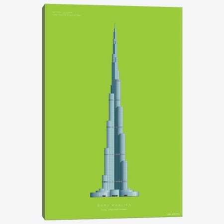 Burj Khalifa Dubai, United Arab Emirates Canvas Print #FBI215} by Fred Birchal Canvas Wall Art