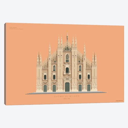 Duomo Di Milano Milan, Italy Canvas Print #FBI217} by Fred Birchal Canvas Art