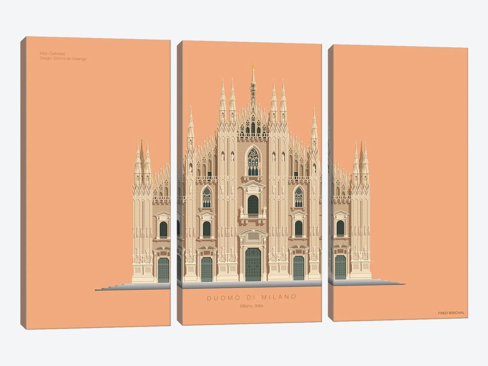Duomo Di Milano Milan, Italy by Fred Birchal 3-piece Canvas Art