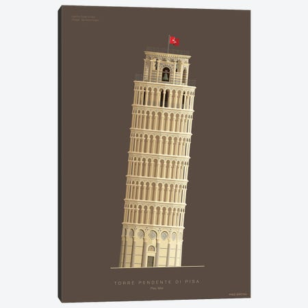 Leaning Tower Of Pisa Pisa, Italy Canvas Print #FBI219} by Fred Birchal Canvas Print