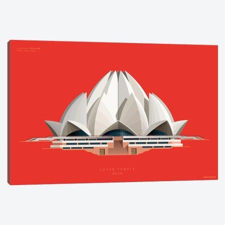 Lotus Temple Delhi, India Canvas Print #FBI220} by Fred Birchal Canvas Artwork