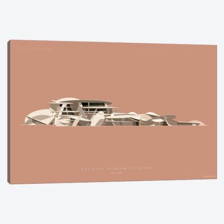 National Museum Of Qatar Doha, Qatar Canvas Print #FBI224} by Fred Birchal Canvas Print
