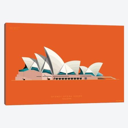 Sydney Opera House Sydney, Australia 3-Piece Canvas #FBI225} by Fred Birchal Art Print