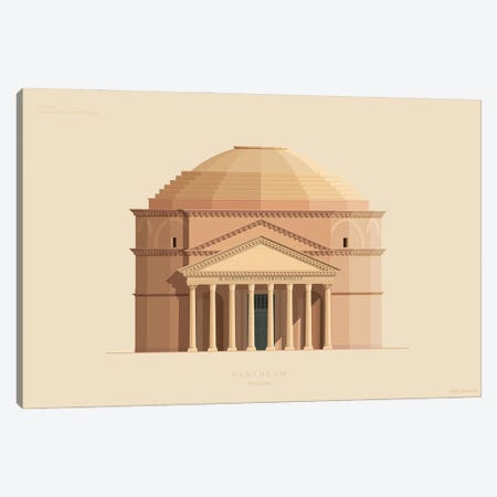Pantheon Rome, Italy Canvas Print #FBI228} by Fred Birchal Canvas Artwork