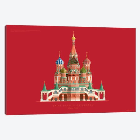 Saint Basil's Cathedral Moscow, Russia Canvas Print #FBI229} by Fred Birchal Canvas Art