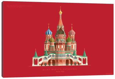 Saint Basil's Cathedral Moscow, Russia Canvas Art Print