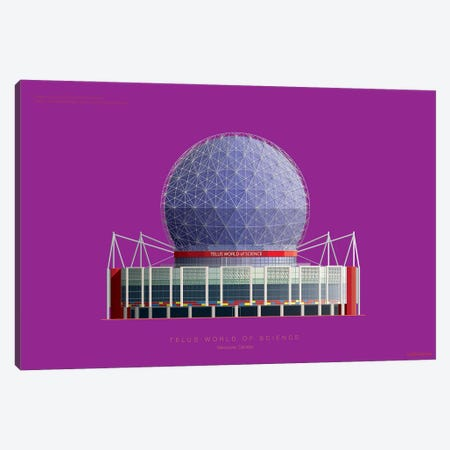 Telus World Of Science Vancouver, Canada Canvas Print #FBI230} by Fred Birchal Canvas Print