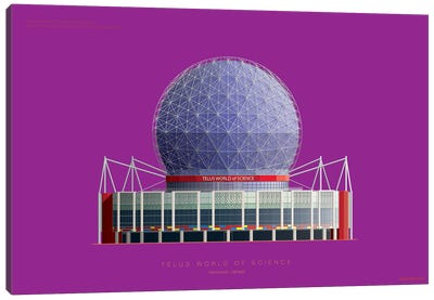 Telus World Of Science Vancouver, Canada Canvas Art Print