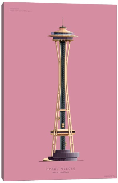 Space Needle Seattle, Usa Canvas Art Print