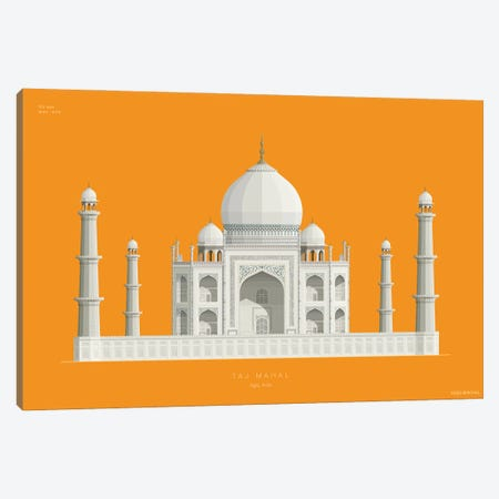 Taj Mahal Agra, India Canvas Print #FBI232} by Fred Birchal Art Print