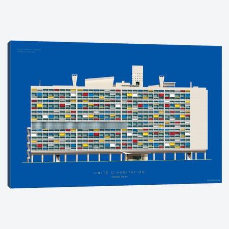 Le Corbusier Unité D'Habitation Marseille, France Canvas Print #FBI234} by Fred Birchal Canvas Artwork