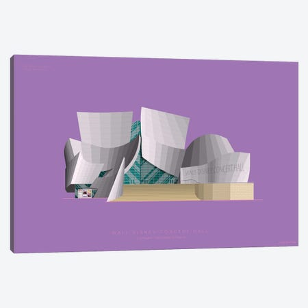 Walt Disney Concert Hall Los Angeles, Usa Canvas Print #FBI235} by Fred Birchal Canvas Art
