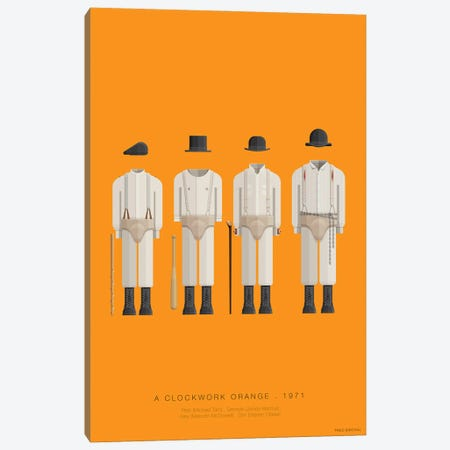 A Clockwork Orange Canvas Print #FBI23} by Fred Birchal Art Print
