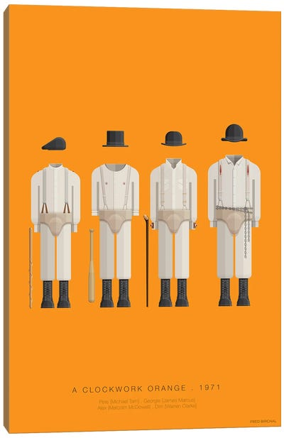 Famous Hollywood Costumes Series: A Clockwork Orange Canvas Print #FBI23
