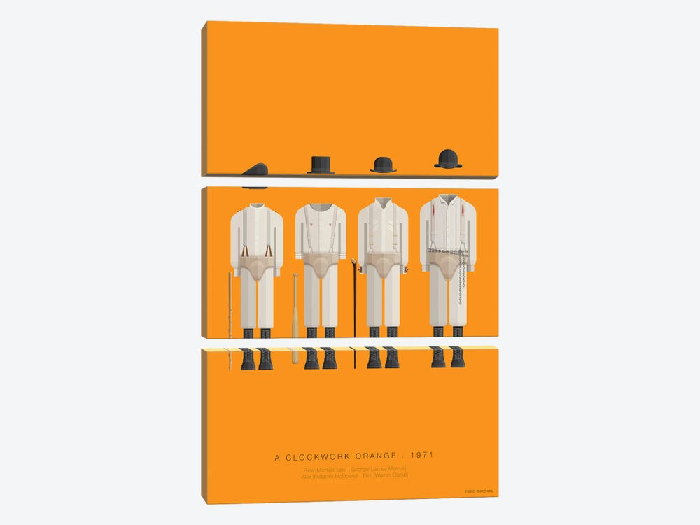 A Clockwork Orange by Fred Birchal 3-piece Canvas Print