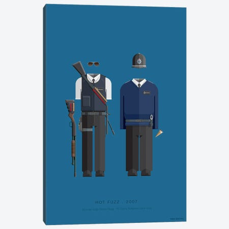 Hot Fuzz Canvas Print #FBI241} by Fred Birchal Canvas Wall Art