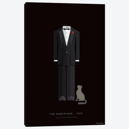 The Godfather Don Vito Corleone Canvas Print #FBI246} by Fred Birchal Art Print