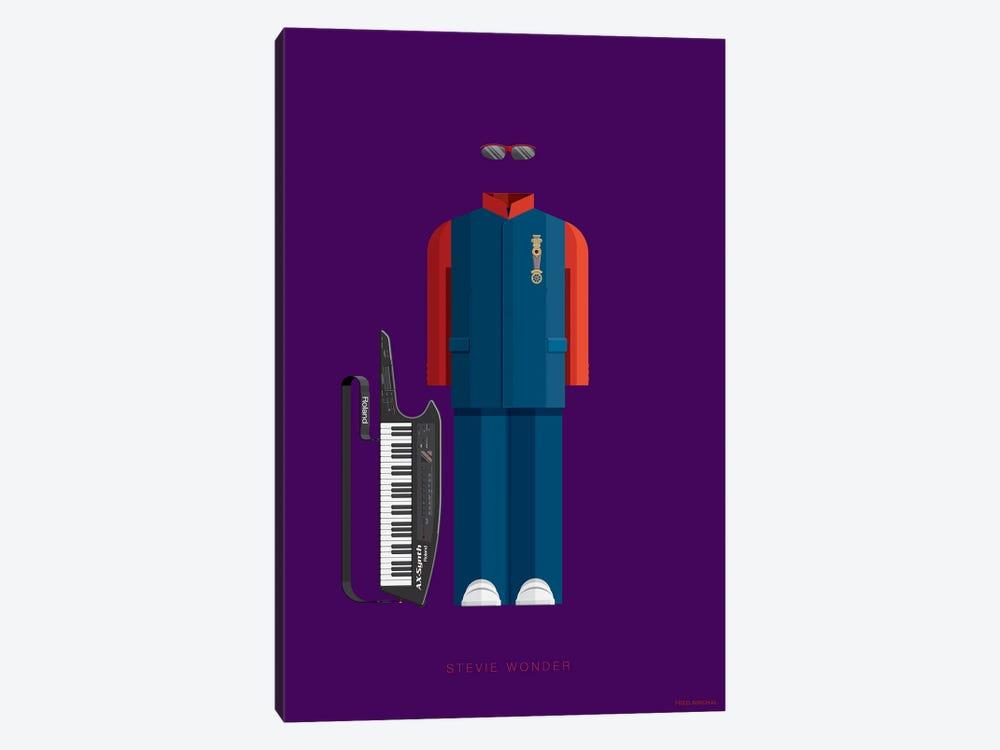 Stevie Wonder by Fred Birchal 1-piece Canvas Print