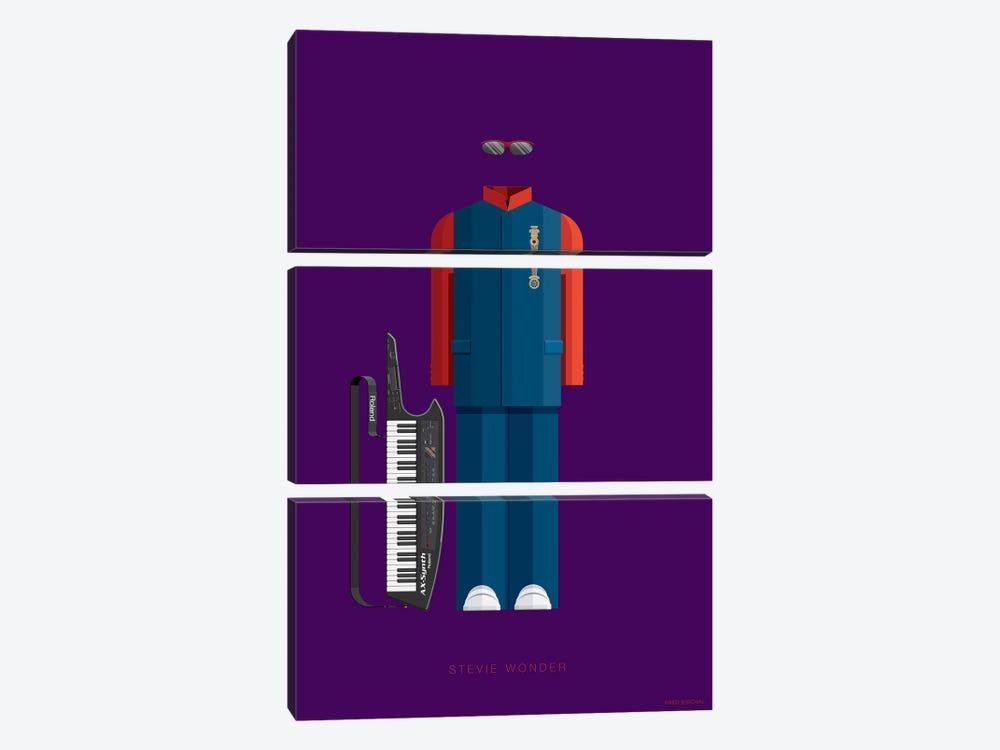 Stevie Wonder by Fred Birchal 3-piece Art Print