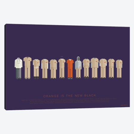Orange Is The New Black Canvas Print #FBI255} by Fred Birchal Canvas Artwork