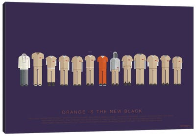 Orange Is The New Black Canvas Art Print