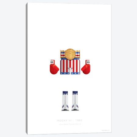 Rocky III Canvas Print #FBI258} by Fred Birchal Canvas Print
