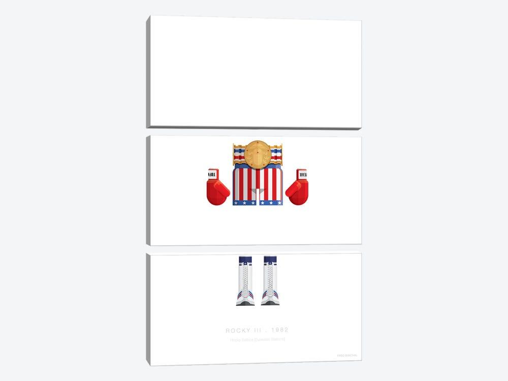 Rocky III by Fred Birchal 3-piece Canvas Print