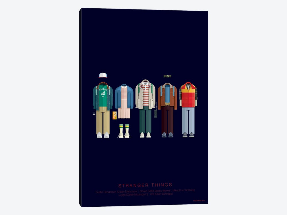 Stranger Things by Fred Birchal 1-piece Canvas Artwork