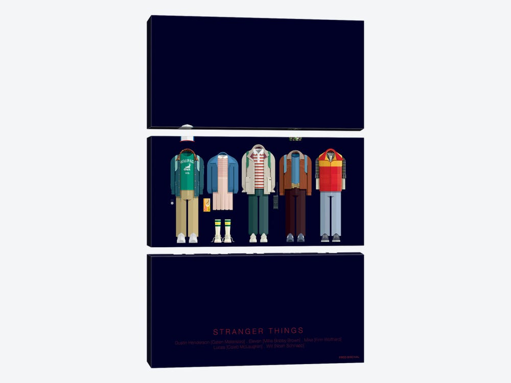 Stranger Things by Fred Birchal 3-piece Canvas Wall Art