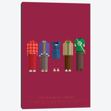 The Big Bang Theory Canvas Print #FBI260} by Fred Birchal Canvas Wall Art