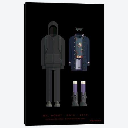 Mr. Robot Canvas Print #FBI263} by Fred Birchal Canvas Artwork
