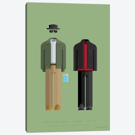 Breaking Bad - Walter And Jesse Canvas Print #FBI266} by Fred Birchal Canvas Print