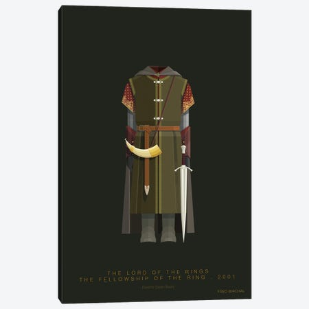 The Lord Of The Rings - Boromir Canvas Print #FBI268} by Fred Birchal Canvas Art