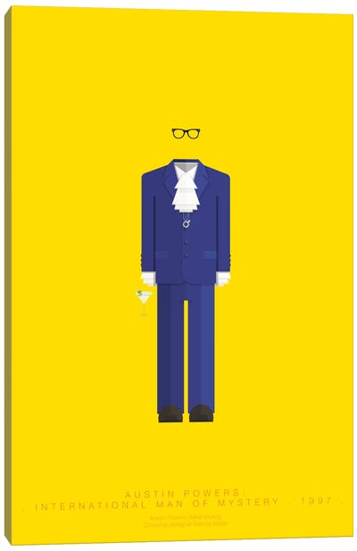 Famous Hollywood Costumes Series: Austin Powers Canvas Print #FBI26