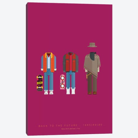 Back To The Future Trilogy Canvas Print #FBI27} by Fred Birchal Canvas Wall Art