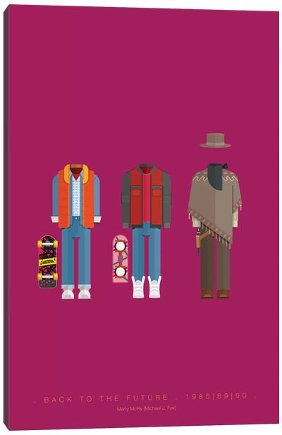 Famous Hollywood Costumes Series: Back To The Future Trilogy Canvas Print #FBI27