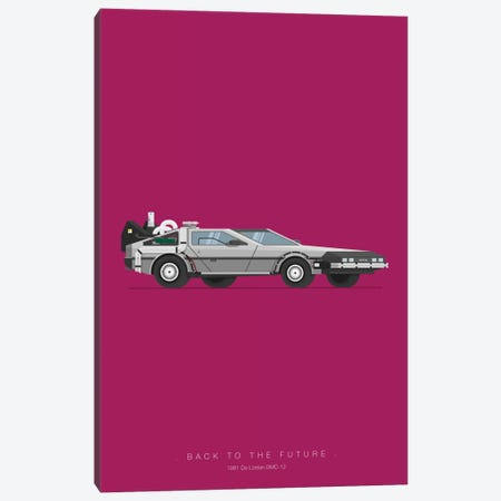 Back To The Future Canvas Print #FBI2} by Fred Birchal Canvas Wall Art
