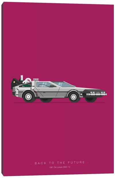 Famous Cars Series: Back To The Future Canvas Print #FBI2