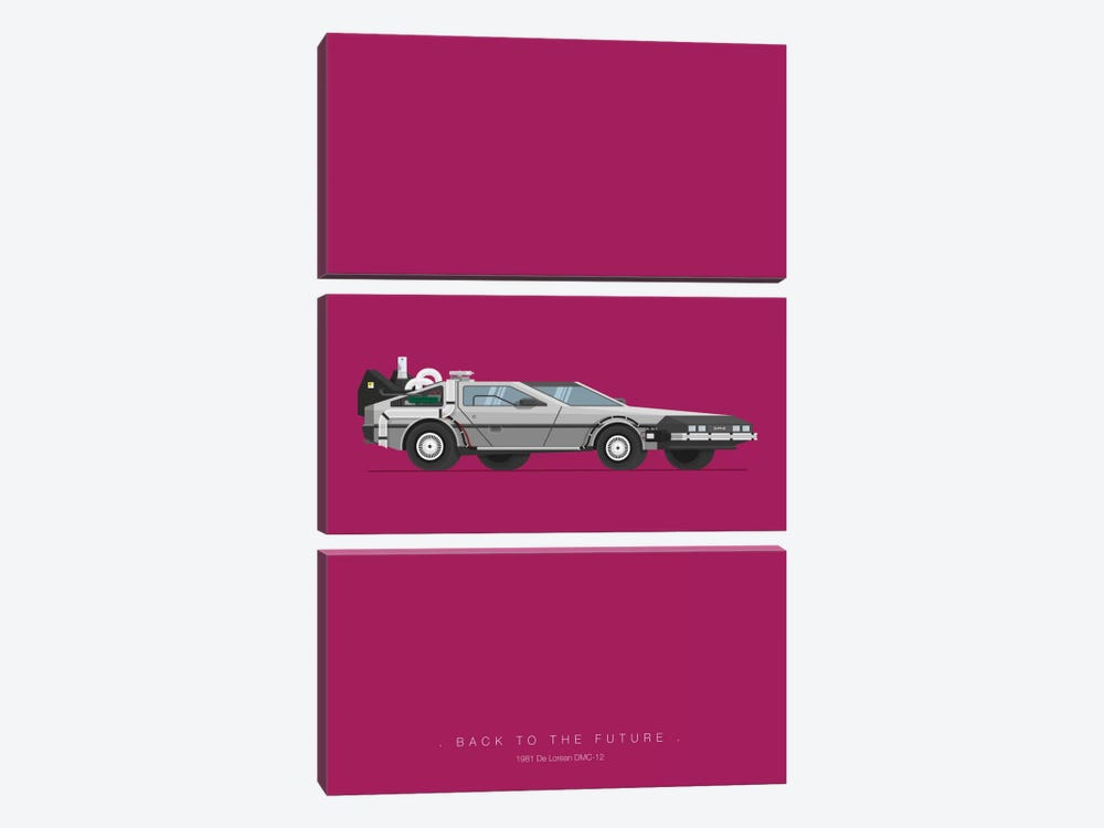 Back To The Future by Fred Birchal 3-piece Art Print