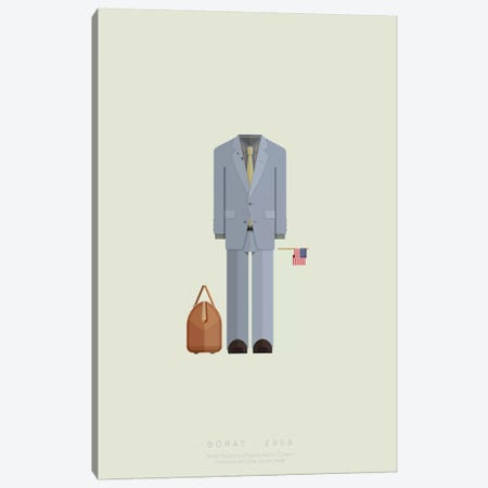 Borat Canvas Print #FBI31} by Fred Birchal Canvas Wall Art