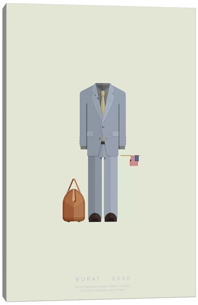 Famous Hollywood Costumes Series: Borat Canvas Print #FBI31