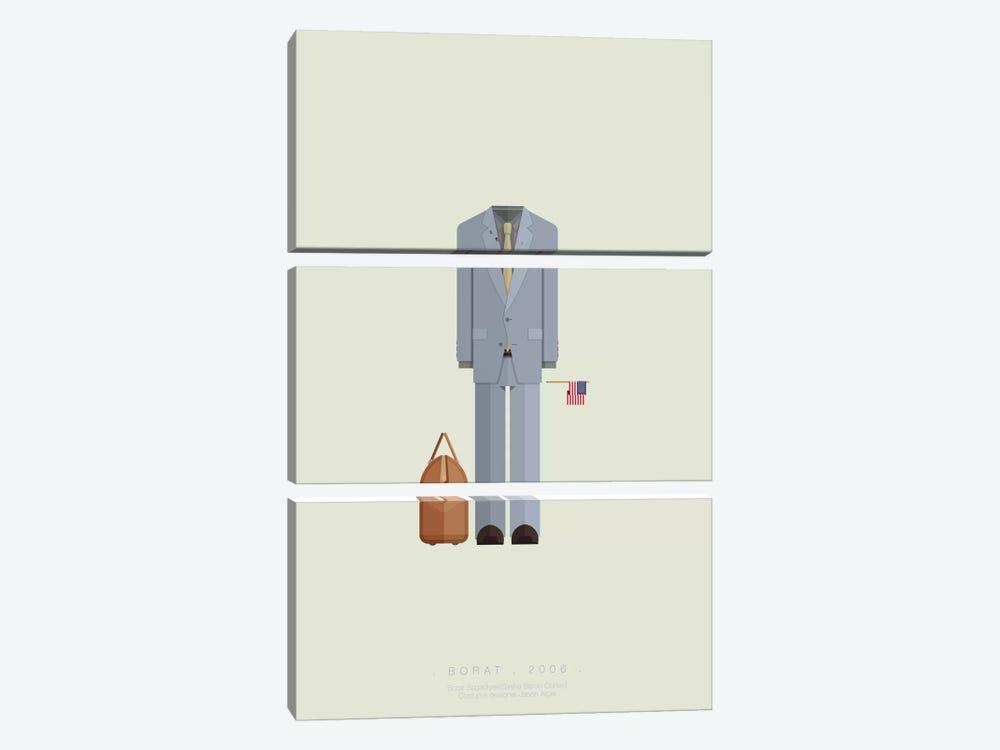Borat by Fred Birchal 3-piece Canvas Artwork