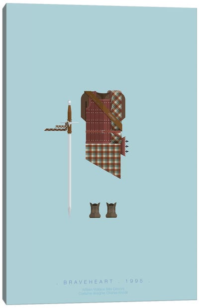 Famous Hollywood Costumes Series: Braveheart Canvas Art Print