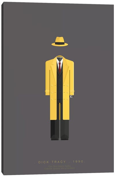 Famous Hollywood Costumes Series: Dick Tracy Canvas Art Print