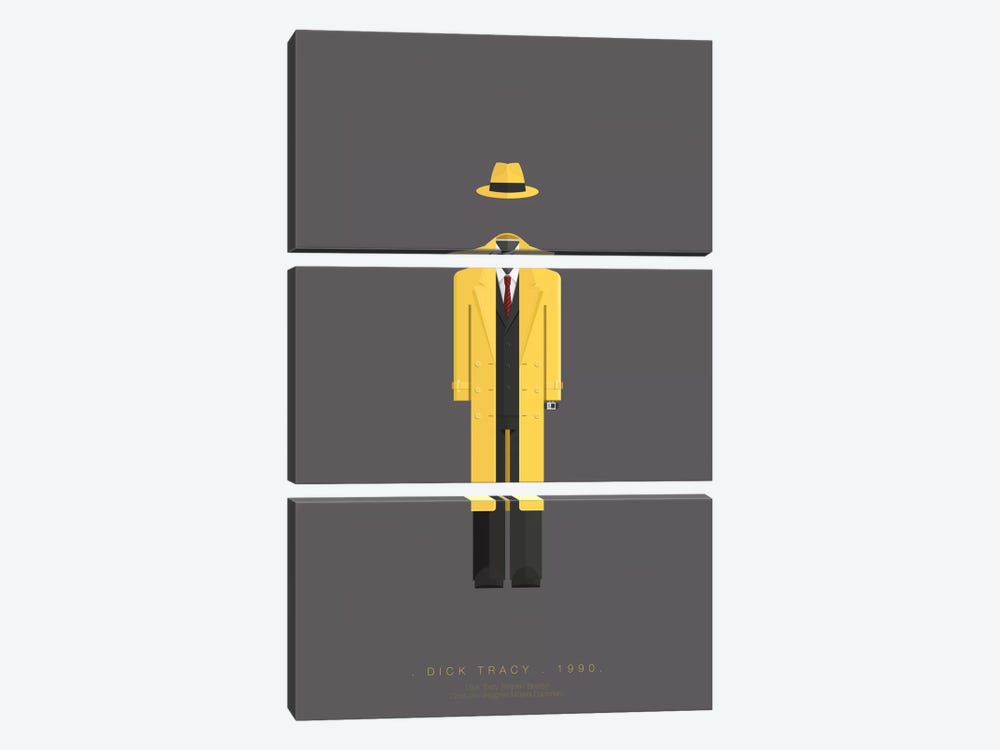 Dick Tracy by Fred Birchal 3-piece Art Print