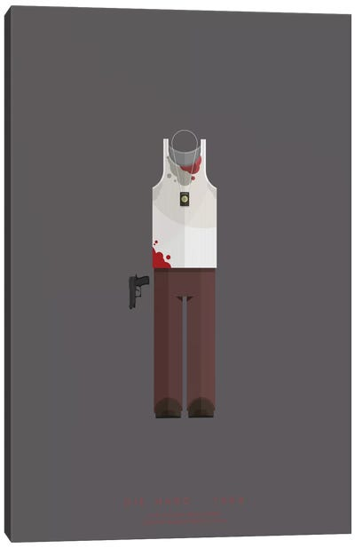 Famous Hollywood Costumes Series: Die Hard Canvas Art Print
