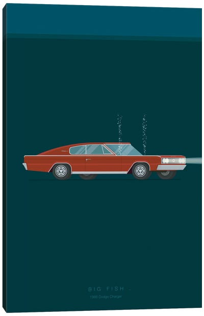 Famous Cars Series: Big Fish Canvas Art Print